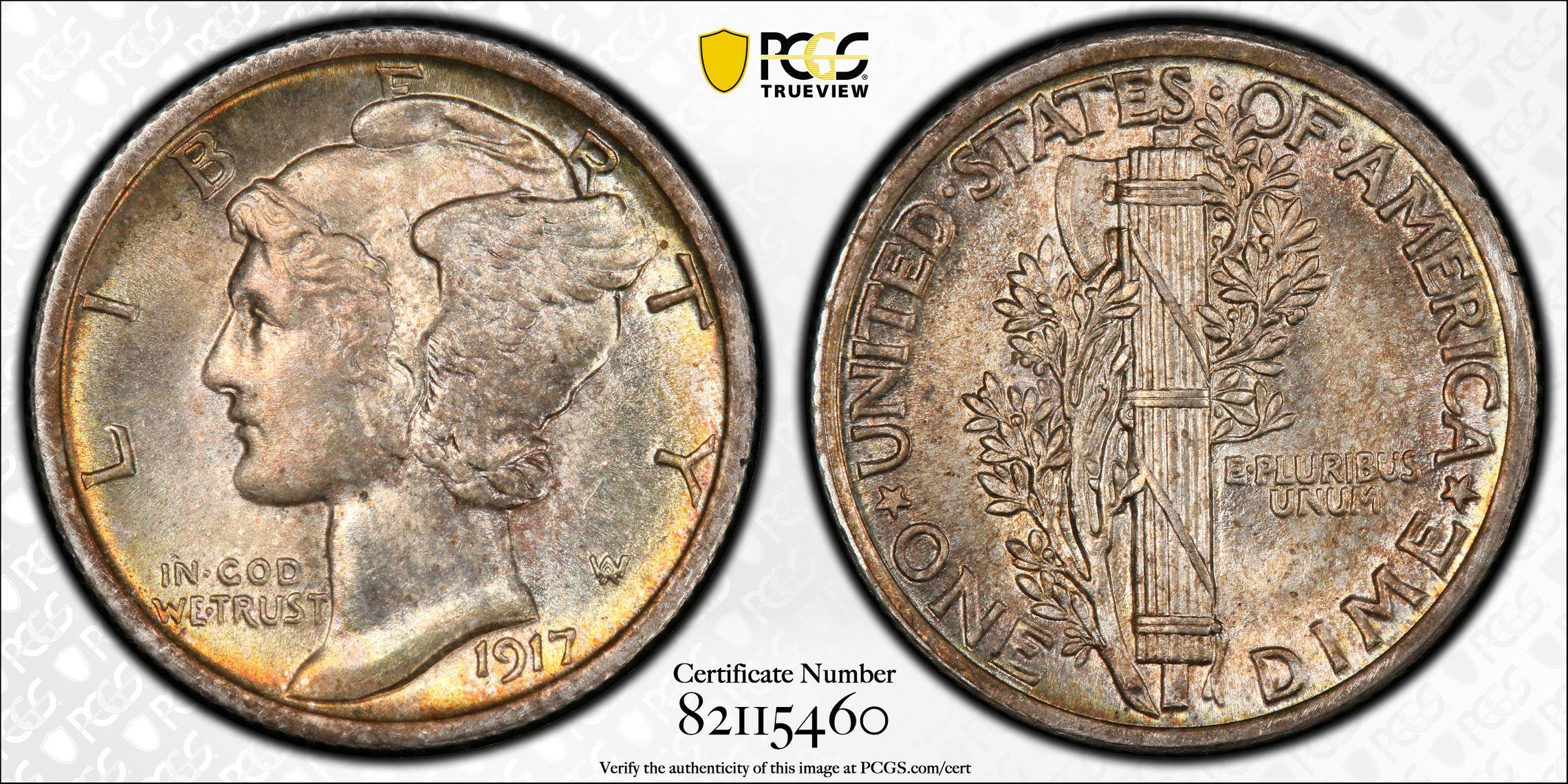 1917-P MS65FB
